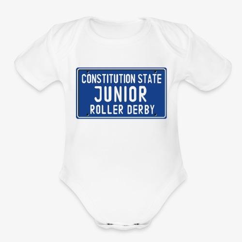 Constitution State Junior Roller Derby - Organic Short Sleeve Baby Bodysuit