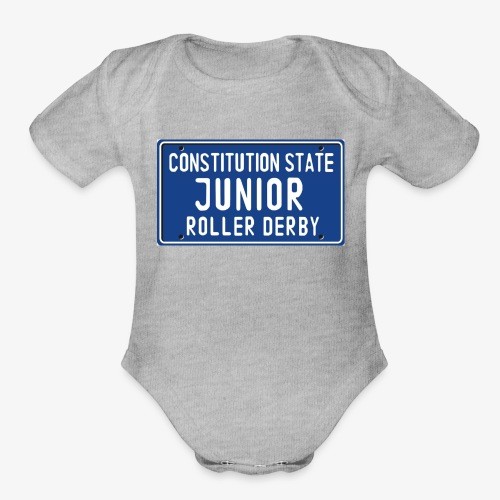 Constitution State Junior Roller Derby - Organic Short Sleeve Baby Bodysuit
