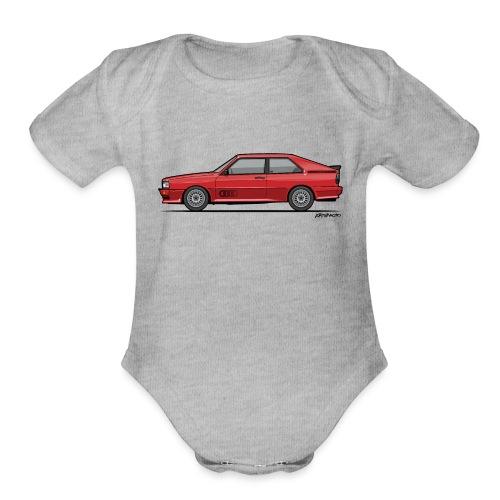 four rings b2 red quattro - Organic Short Sleeve Baby Bodysuit