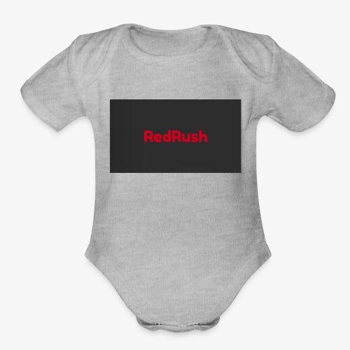 red rush - Organic Short Sleeve Baby Bodysuit