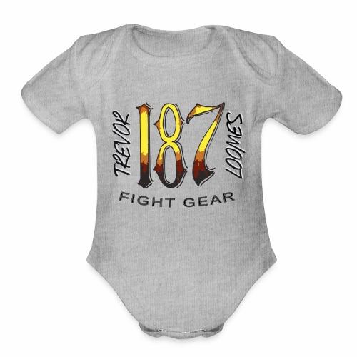 Coloured Trevor Loomes 187 Fight Gear Logo - Organic Short Sleeve Baby Bodysuit