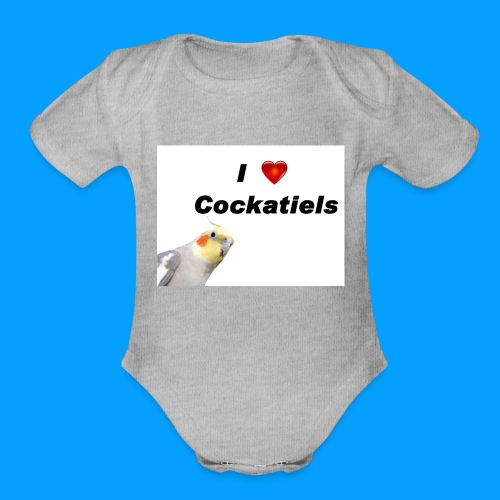 Cockatiels - Organic Short Sleeve Baby Bodysuit