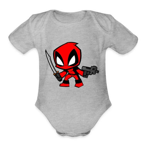 deadpool - Organic Short Sleeve Baby Bodysuit