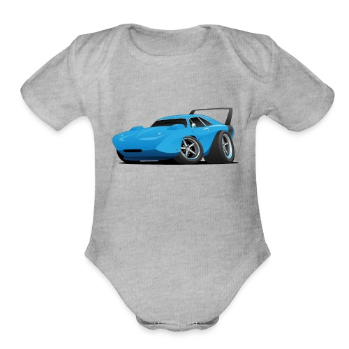 Classic American Winged Muscle Car Hot Rod - Organic Short Sleeve Baby Bodysuit