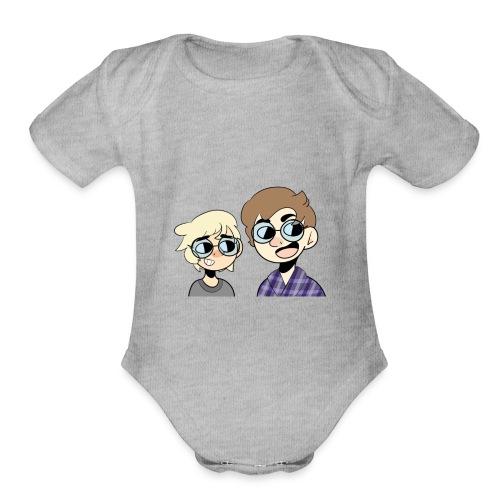 C&K - Organic Short Sleeve Baby Bodysuit