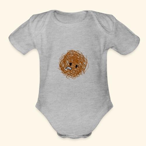 Tumbleweed clear - Organic Short Sleeve Baby Bodysuit
