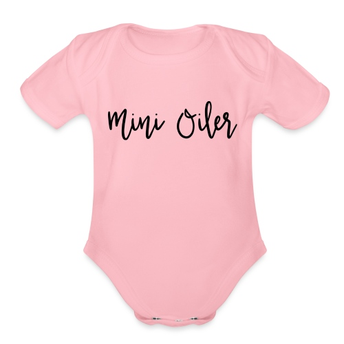 MiniOilerShirt - Organic Short Sleeve Baby Bodysuit