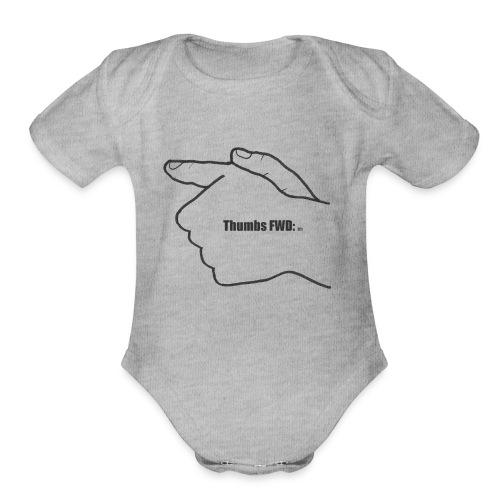 Thumbs Forward- For the responsible gun owner - Organic Short Sleeve Baby Bodysuit