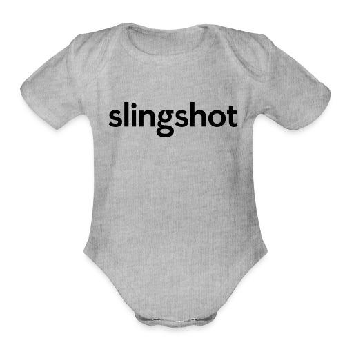 SlingShot Logo - Organic Short Sleeve Baby Bodysuit