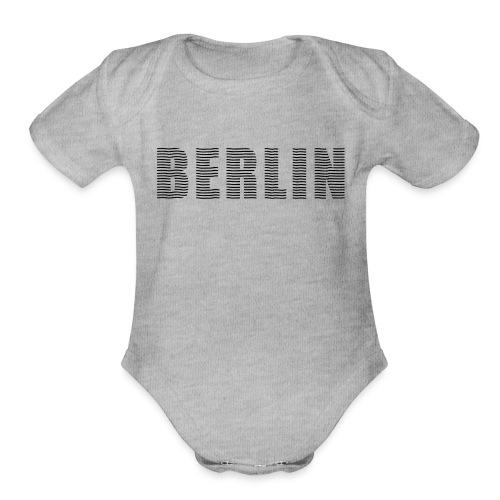 BERLIN line-font - Organic Short Sleeve Baby Bodysuit