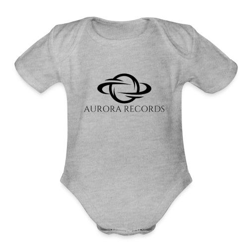 Aurora Records Logo - Organic Short Sleeve Baby Bodysuit