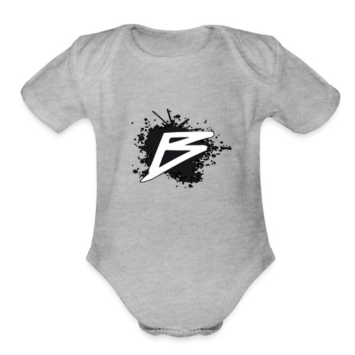 Bordocks Logo - Organic Short Sleeve Baby Bodysuit