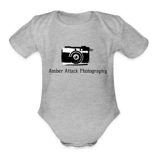 Amber Attack Photography Logo - Organic Short Sleeve Baby Bodysuit
