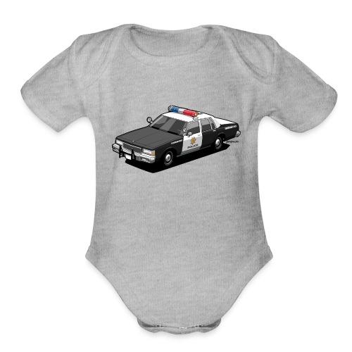 Caprice Classic Police Ca - Organic Short Sleeve Baby Bodysuit