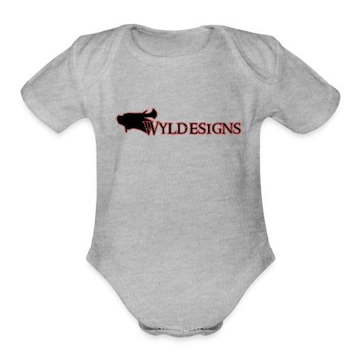 Wyldesigns Logo - Organic Short Sleeve Baby Bodysuit