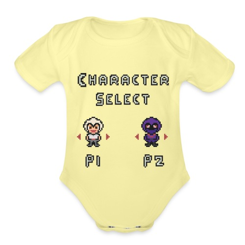 Character Select - Organic Short Sleeve Baby Bodysuit