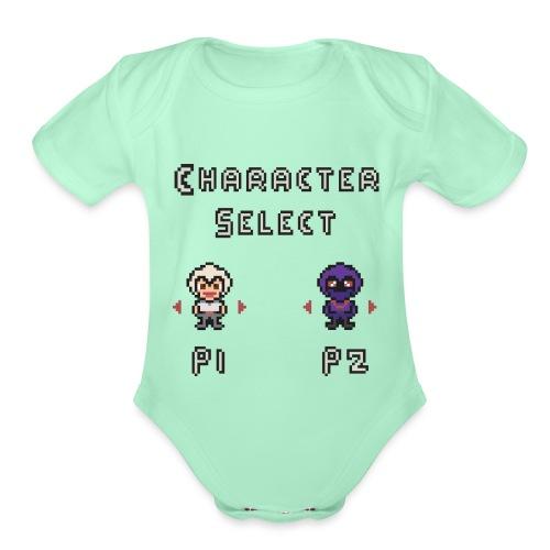 Character Select - Organic Short Sleeve Baby Bodysuit