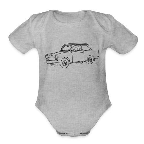 Car Trabant - Organic Short Sleeve Baby Bodysuit