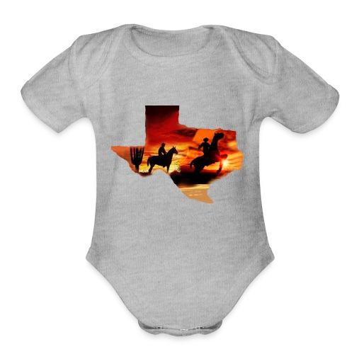Wild heart - Organic Short Sleeve Baby Bodysuit