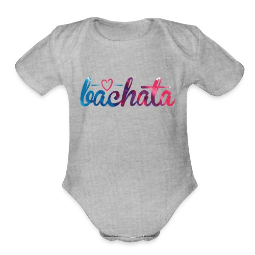 bachata colors - Organic Short Sleeve Baby Bodysuit