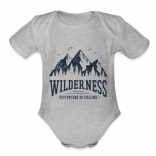 Wilderness - Wanderlust collection - Organic Short Sleeve Baby Bodysuit