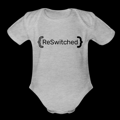 full black reswitched bmx3r - Organic Short Sleeve Baby Bodysuit