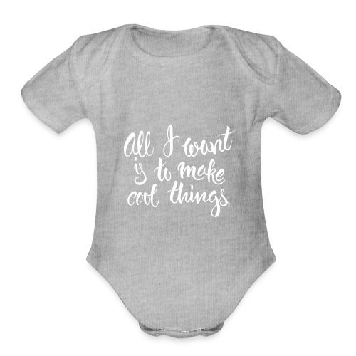 Cool Things White - Organic Short Sleeve Baby Bodysuit