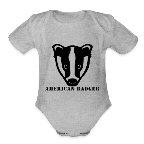 American Badger - Organic Short Sleeve Baby Bodysuit