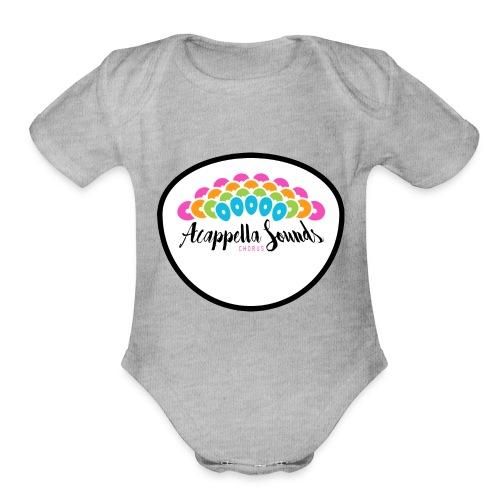 crest - Organic Short Sleeve Baby Bodysuit