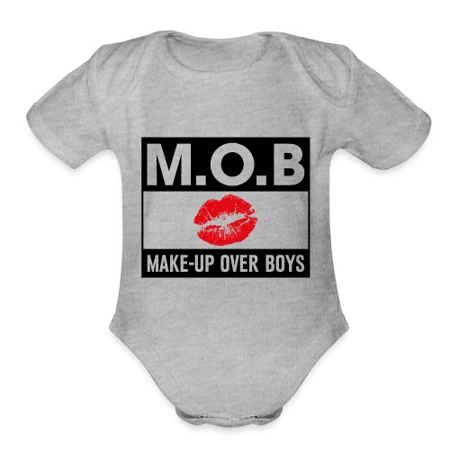 Money over boys - Organic Short Sleeve Baby Bodysuit