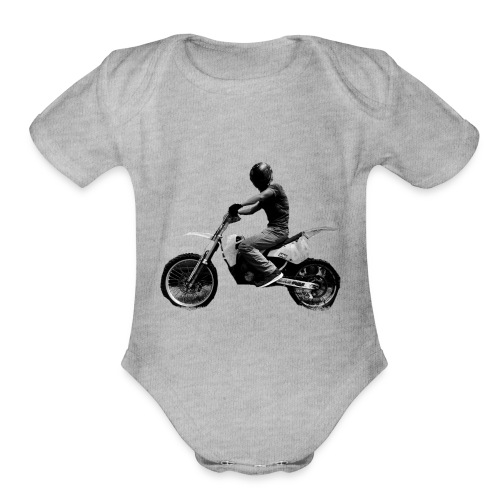 Impale Logo - Organic Short Sleeve Baby Bodysuit