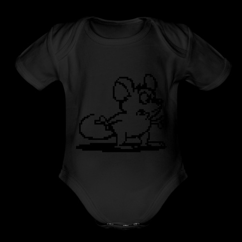 my neon blue mouse by bmx3r - Organic Short Sleeve Baby Bodysuit