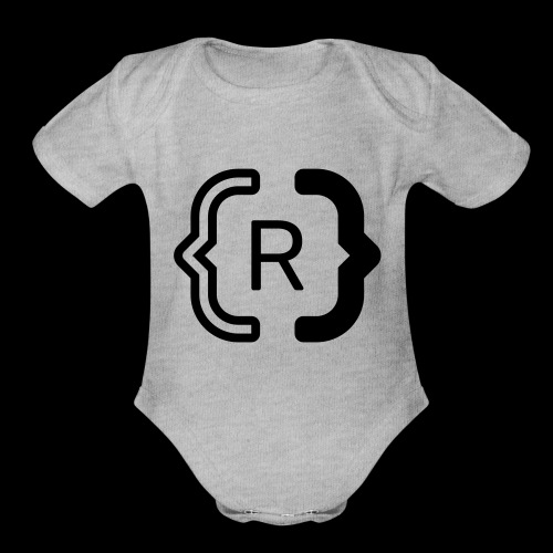 square black reswitched R logo bmx3r - Organic Short Sleeve Baby Bodysuit