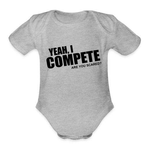 compete - Organic Short Sleeve Baby Bodysuit