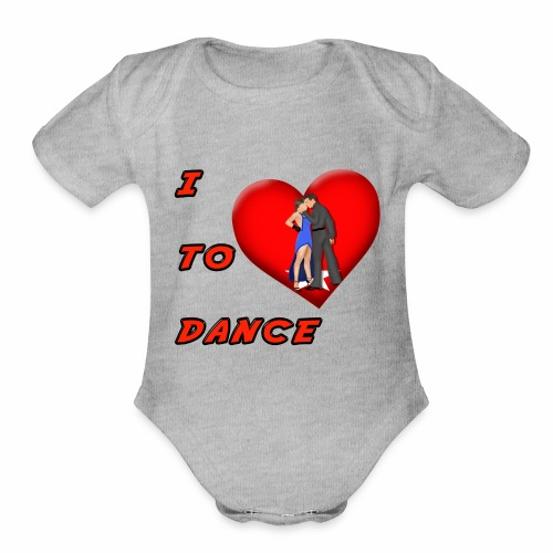 I Heart Dance - Organic Short Sleeve Baby Bodysuit