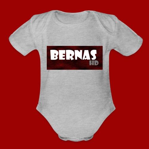 bernashd color 2 - Organic Short Sleeve Baby Bodysuit