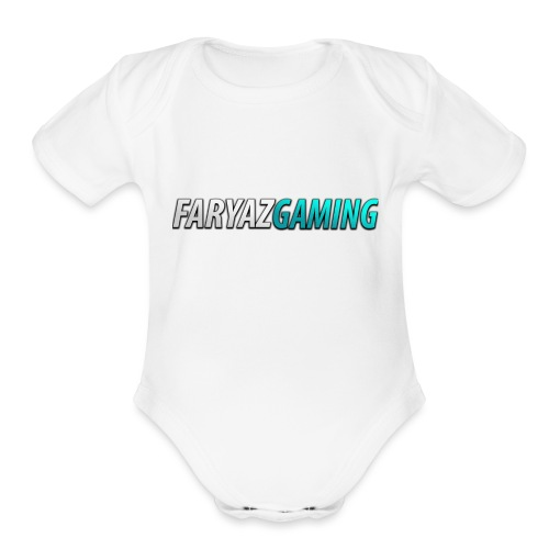 FaryazGaming Theme Text - Organic Short Sleeve Baby Bodysuit
