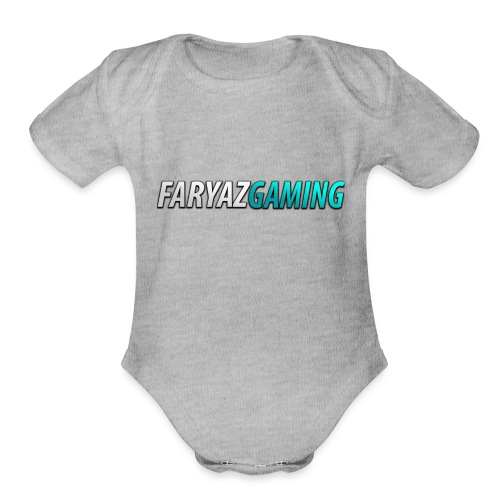 FaryazGaming Theme Text - Organic Short Sleeve Baby Bodysuit