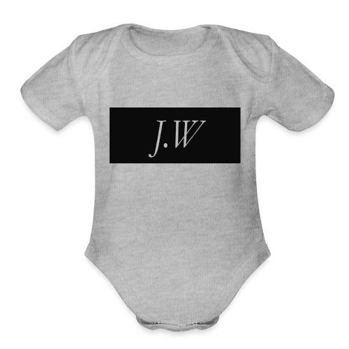 j-w_shirt_ - Organic Short Sleeve Baby Bodysuit