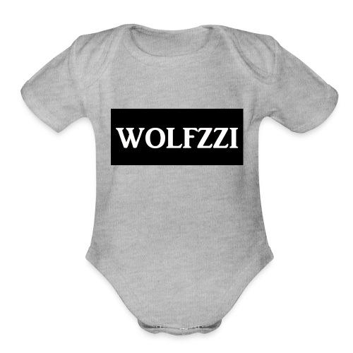 wolfzzishirtlogo - Organic Short Sleeve Baby Bodysuit