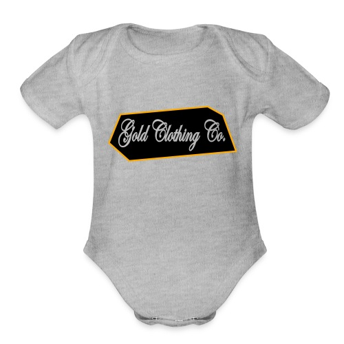 GOLD Clothing Co. Brick Logo - Organic Short Sleeve Baby Bodysuit