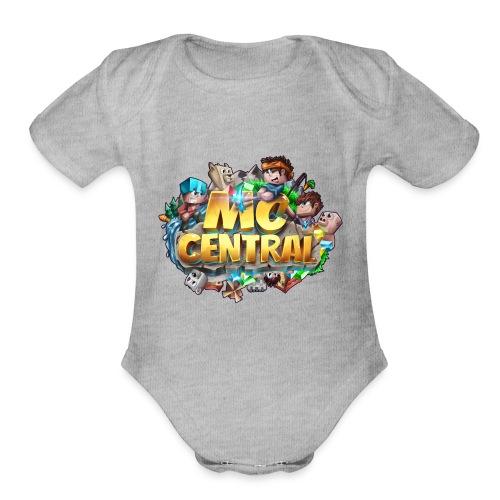 MC Central Logo - Organic Short Sleeve Baby Bodysuit