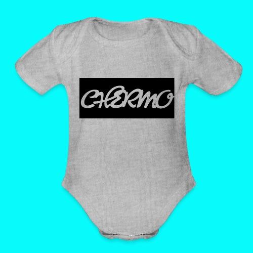 Chermos New Logo - Organic Short Sleeve Baby Bodysuit