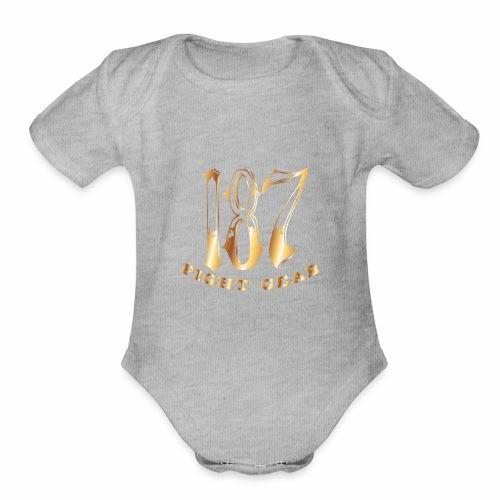 187 Fight Gear Gold Logo Sports Gear - Organic Short Sleeve Baby Bodysuit