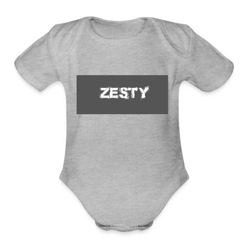 Spray Paint Font - Organic Short Sleeve Baby Bodysuit
