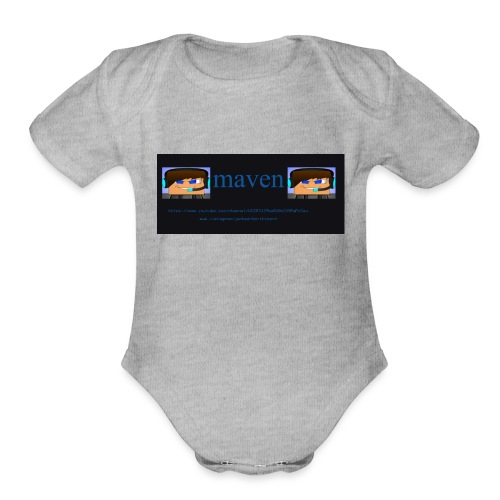 maventshirtlogo - Organic Short Sleeve Baby Bodysuit