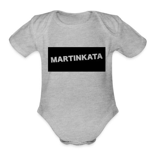 my shirt - Organic Short Sleeve Baby Bodysuit