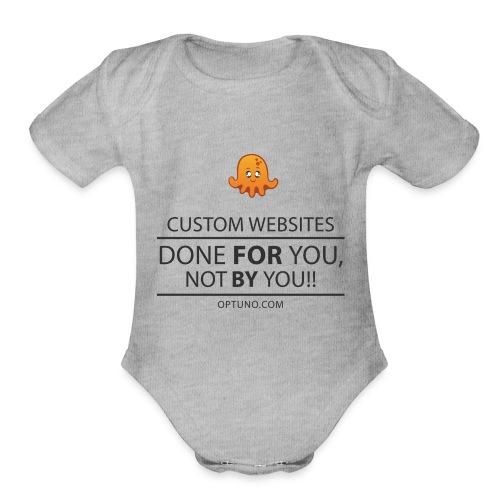 Optuno - Organic Short Sleeve Baby Bodysuit