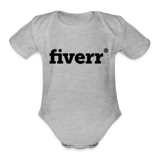 fiverr logo - Organic Short Sleeve Baby Bodysuit
