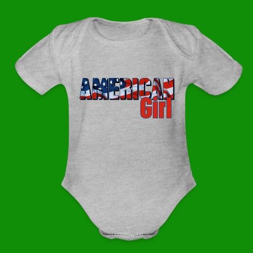AMERICAN GIRL - Organic Short Sleeve Baby Bodysuit